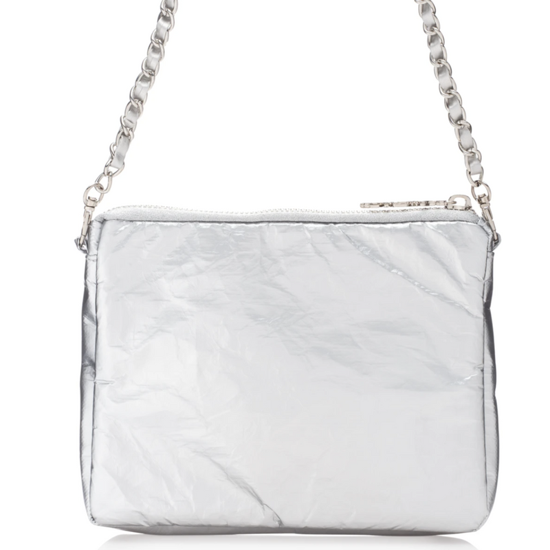 HiLove Chain Crossbody/Clutch- Silver