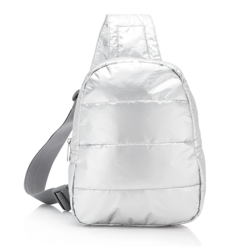 HiLove Crossbody Backpack- Silver