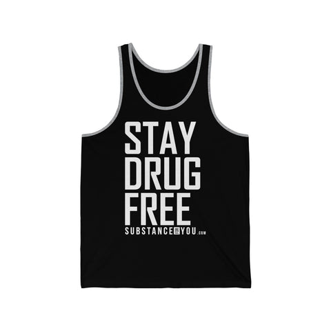 Stay Drug Free - SubstanceForYou.com, Tank Top - SubstanceForYou.com, SubstanceForYou.com - SubstanceForYou.com