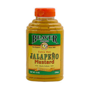 Beaverton Foods  267  Beaver Jalapeno Mustard (SET OF 6 PER CASE)