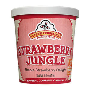 Straw Propeller Gourmet Foods  3229  Straw Propeller Strawberry Jungle Oatmeal (SET OF 12 PER CASE)