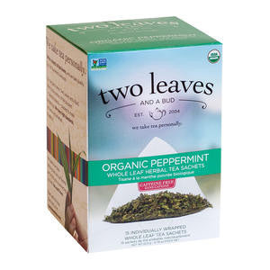 Two Leaves Tea Company  T01215  Organic Peppermint (SET OF 6 PER CASE)