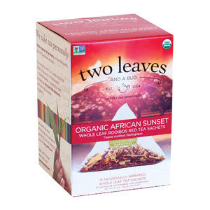 Two Leaves Tea Company  T00915  Organic African Sunset (SET OF 6 PER CASE)