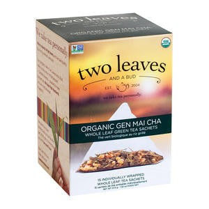Two Leaves Tea Company  T01815  Organic Gen Mai Cha (SET OF 6 PER CASE)