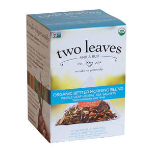 Two Leaves Tea Company  T02115  Organic Better Morning Blend (SET OF 6 PER CASE)