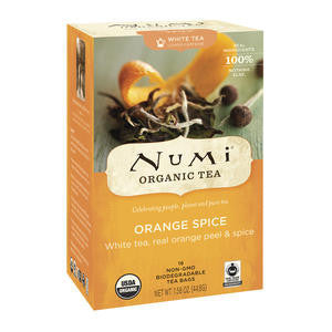 Numi  102406  Numi Orange Spice White Tea (SET OF 108 PER CASE)