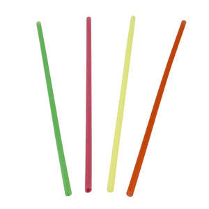 WNA  S800NA  Slim Straw Assorted Neon 8'' (SET OF 10000 PER CASE)
