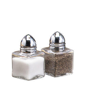 Tablecraft  30S&P  Mini Cube Salt and Pepper Shaker 0.5 oz (SET OF 24 PER CASE)