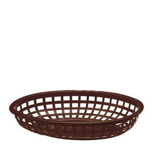 Tablecraft  1074BR  Classic Oval Basket Brown 9 3/8'' x 6'' (SET OF 36 PER CASE)