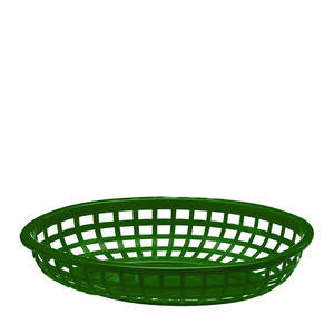 Tablecraft  1074G  Classic Oval Basket Green 9 3/8'' x 6'' (SET OF 36 PER CASE)