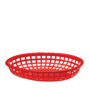 Tablecraft  1074R  Classic Oval Basket Red 9 3/8'' x 6'' (SET OF 36 PER CASE)