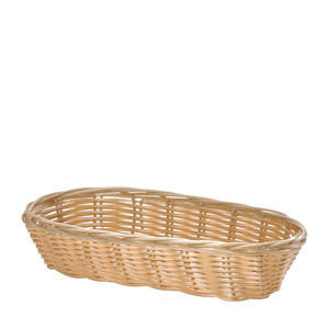 Tablecraft  1117W  Handwoven Basket Oblong Natural 9'' x 3 1/2'' (SET OF 12 PER CASE)