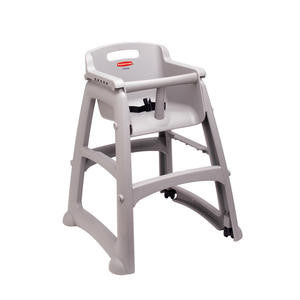 Rubbermaid Commercial  FG780608PLAT  High Chair without Wheel Platinum Assembled (1 EACH)