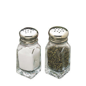 Tablecraft  C154-12  Square Salt and Pepper Shaker 2 oz (SET OF 48 PER CASE)
