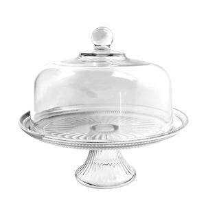 Anchor Hocking  86475L13  Canton Cake Dome and Stand (2 SETS)