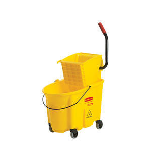 Rubbermaid Commercial  FG618688YEL  WaveBrake Bucket/Wringer Combo Side Press Yellow 40 qt (1 EACH)