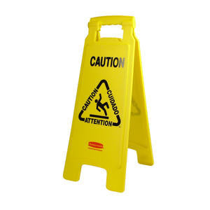 Rubbermaid Commercial  FG611200YEL  'Caution'' Floor Sign Yellow 25'' (1 EACH)