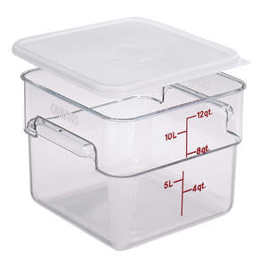 Cambro Manufacturing  12SFSCW135  CamSquare Container Clear 12 qt (1 EACH)