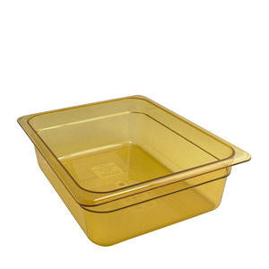 Cambro Manufacturing  24HP150  H-Pan Half Size Amber 4'' (1 EACH)