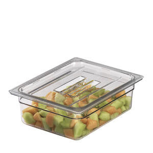 Cambro Manufacturing  40CWCH135  Camwear Food Pan Cover Fourth Size with Handle Clear (1 EACH)