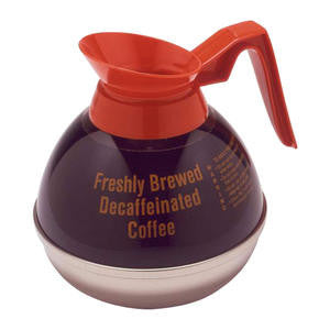 Wells Manufacturing  8889  Decanter Decaf Orange Handle (1 EACH)