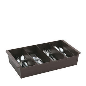 Vollrath Company  52652  Cutlery Bin 4 Compartment Brown (1 EACH)