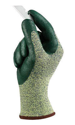 Ansell 11-511-11 Size 11 HyFlex Medium Duty Cut And Abrasion Resistant Green Foam Nitrile Palm Coated Work Gloves With Intercept Technology DuPont Kevlar Liner And Knit Wrist  (1/PR)