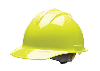 Bullard 30HYR Hi-Viz Yellow Class E or G Type I Classic C30 3000 Series  HDPE Cap Style Hard Hat With 6-Point Ratchet Suspension, Accessory Slots,  Chin