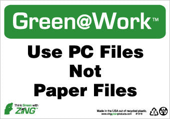 NMC GW1019-USE PC FILES NOT PAPER FILES, 7X10, RECYCLE PLASTIC (1 EACH)
