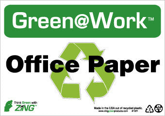 NMC GW1021-OFFICE PAPER, 7X10, RECYCLE PLASTIC (1 EACH)