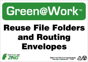 NMC GW1023-REUSE FILE FOLDERS AND ROUTING ENVELOPES, 7X10, RECYCLE PLASTIC (1 EACH)