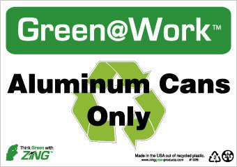 NMC GW1028-ALUMINUM CANS ONLY, 7X10, RECYCLE PLASTIC (1 EACH)