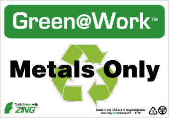 NMC GW1041-METALS ONLY, 7X10, RECYCLE PLASTIC (1 EACH)