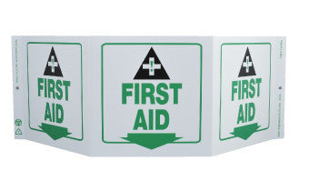 NMC GW3056-TRI-VIEW, FIRST AID, 7.5X20, RECYCLE PLASTIC (1 EACH)
