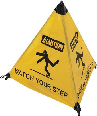NMC HFS5-HANDY CONE FLOOR SIGN, CAUTION WATCH YOUR STEP, 18IN (1 EACH)