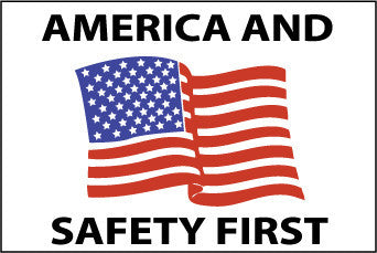 NMC HH90-AMERICA AND SAFETY FIRST, 2 X 3., PS VINYL (PAK OF 25)