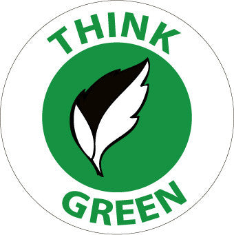 NMC HH97-THINK GREEN (GRAPHIC), 2DIA, PS VINYL (PAK OF 25)