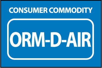 NMC HW33AL-LABELS, SHIPPING AND PACKING, CONSUMER COMMODITY ORM-D-AIR, 1.5X2, PS PAPER (1 ROLL)