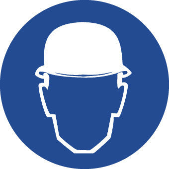 NMC ISO203AP-LABEL, GRAPHIC FOR WEAR HEAD PROTECTION, 2IN DIA, PS VINYL (PAK OF 10)