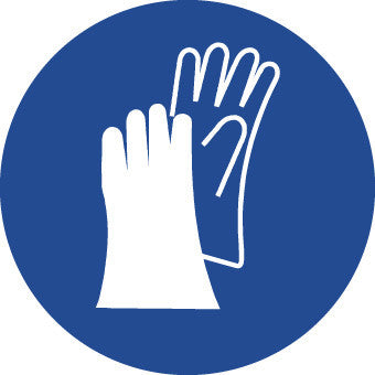 NMC ISO404AP-LABEL, GRAPHIC FOR WEAR HAND PROTECTION, 4IN DIA, PS VINYL (PAK OF 5)