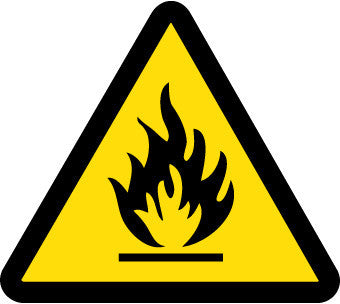 NMC ISO465AP-LABEL, GRAPHIC FOR FIRE HAZARD, 4IN DIA, PS VINYL (PAK OF 5)