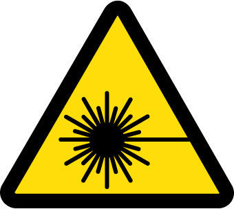 NMC ISO468AP-LABEL, GRAPHIC FOR LASER HAZARD, 4IN DIA, PS VINYL (PAK OF 5)