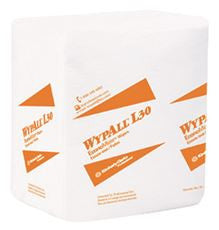 Kimberly-Clark 5812 WYPALL L30 PURPOSE WIPES, QUARTER-FOLD, 12-1/2 IN. X 13 IN. (12 PER CASE)