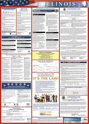 NMC LLP-IL-LABOR LAW POSTER, ILLINIOS, 39X27 (1 EACH)