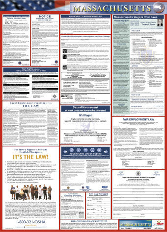 NMC LLP-MA-LABOR LAW POSTER, MASSACHUSETTS, 39X27 (1 EACH)