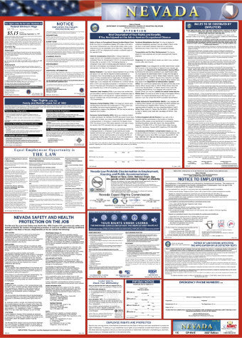 NMC LLP-NV-LABOR LAW POSTER, NEVADA, 39X27 (1 EACH)