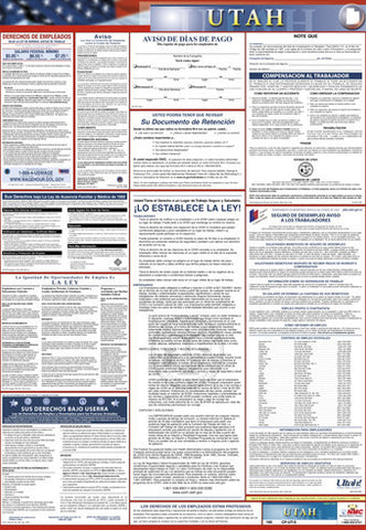 NMC LLPS-UT-LABOR LAW POSTER, UTAH  (SPANISH), 39X27 (1 EACH)
