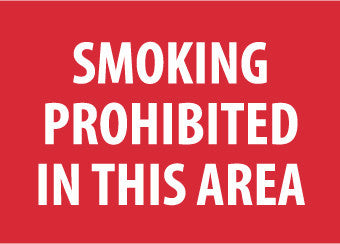 NMC M317PB-SMOKING PROHIBITED IN THIS AREA, 10X14, PS VINYL (1 EACH)