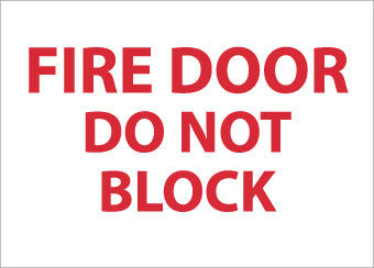 NMC M32A-FIRE DOOR DO NOT BLACK, 7X10, .040 ALUM (1 EACH)
