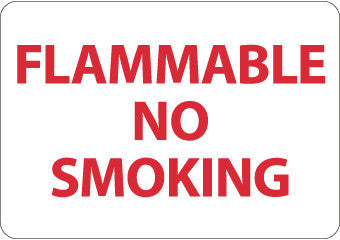 NMC M702P-FLAMMABLE NO SMOKING, 7X10, PS VINYL (1 EACH)